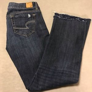 American Eagles distressed favorite boyfriend jean